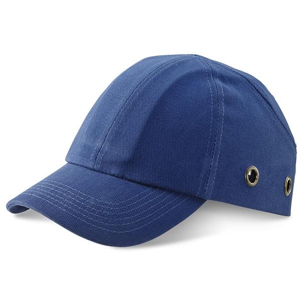 blue safety bump cap